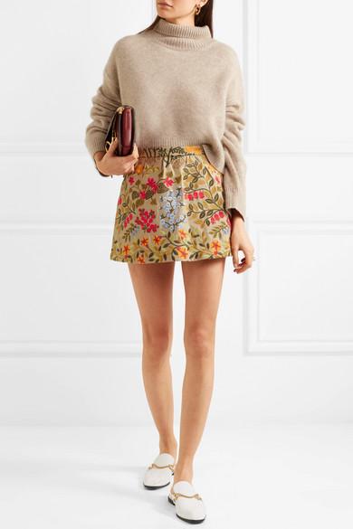 REDValentino Shorts aus besticktem Baumwoll-Twill
