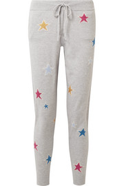 Acid Star cashmere track pants