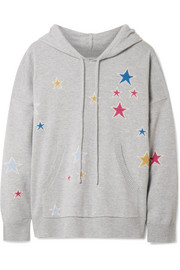 Chinti and Parker Acid Star cashmere hooded top
