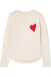 Chinti and Parker Confetti Heart cashmere and wool-blend sweater