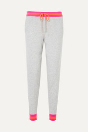 Chinti and Parker Striped cashmere track pants