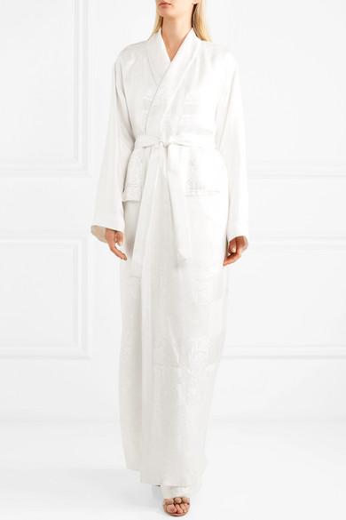 Givenchy Morgenmantel aus glänzendem Jacquard mit Gürtel