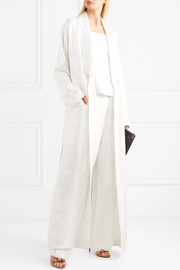 Givenchy Belted satin-jacquard robe