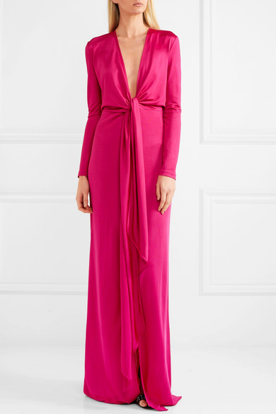 Givenchy Robe aus Stretch-Jersey mit Knotendetail