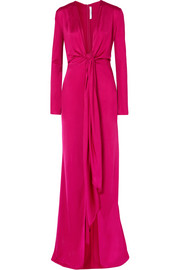 Givenchy Knotted stretch-jersey gown