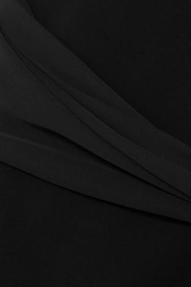 Givenchy Midikleid aus Stretch-Cady und Crêpe mit Cut-out