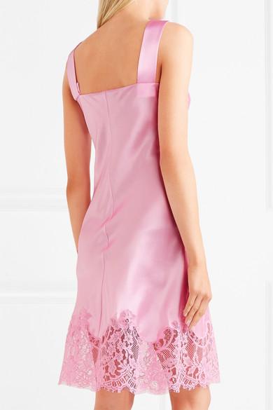 Givenchy Minikleid aus Seidensatin mit Spitzenbesatz