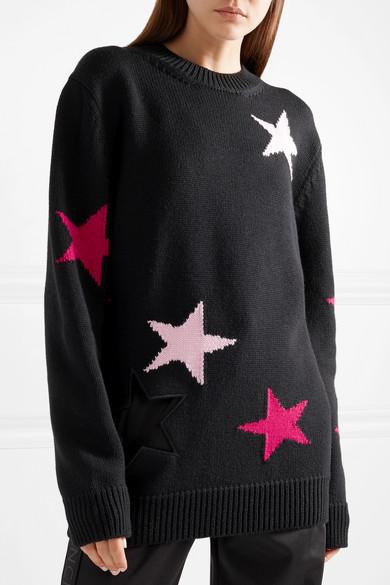 Givenchy Wollpullover mit Intarsienmotiv