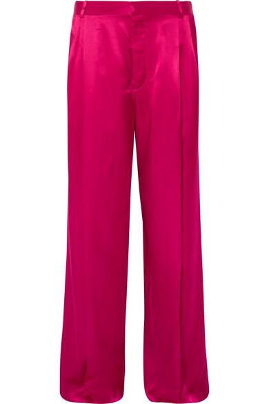 Givenchy Hose mit weitem Bein aus Satin