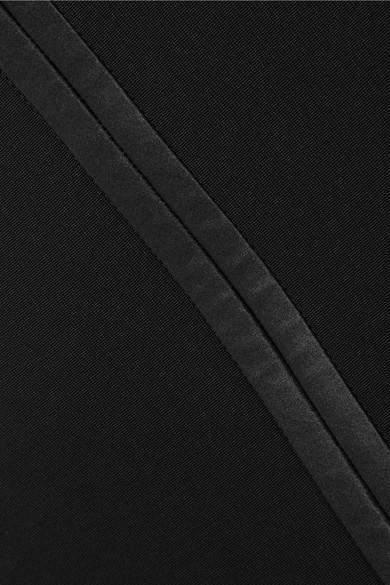 Givenchy Rock aus Stretch-Strick mit Seidenbesatz