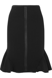 Givenchy Silk-trimmed stretch-knit skirt