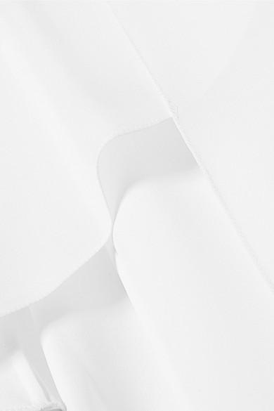 Givenchy Schluppenbluse aus Seiden-Georgette mit Cape-Effekt