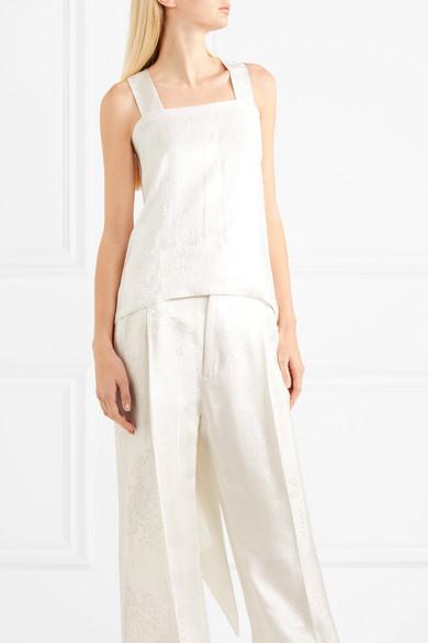 Givenchy Drapiertes Oberteil aus glänzendem Jacquard Freies Verschiffen Zuverlässig Billig Bester Verkauf Kaufen Günstig Online Billig Verkauf 2018 Neue 0forIy