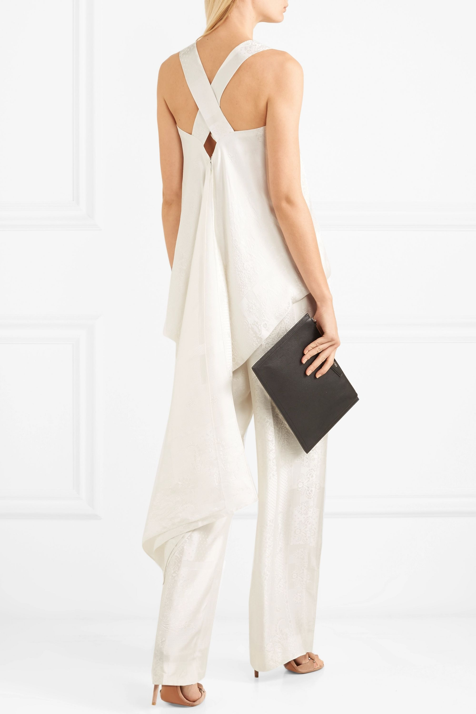 Givenchy Drapiertes Oberteil aus glänzendem Jacquard