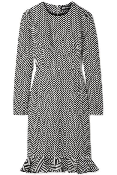 House Of Holland COTTON-BLEND JACQUARD MINI DRESS