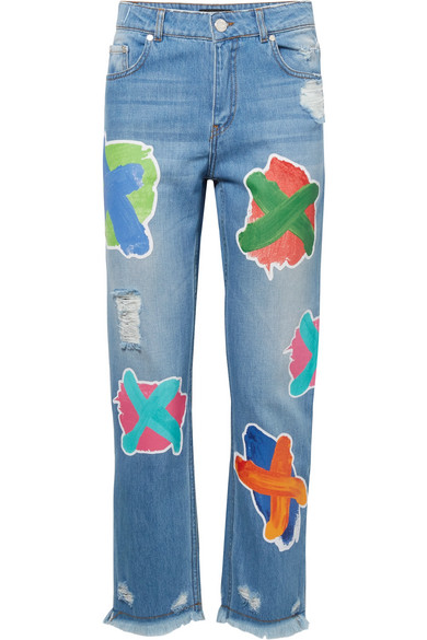 House of Holland Bedruckte Boyfriend-Jeans