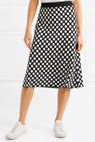 House of Holland Rock aus Jacquard-Strick mit Polka-Dots