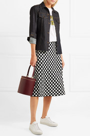 Polka-dot jacquard-knit skirt