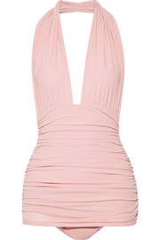 Bill ruched halterneck swimsuit