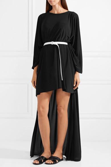 Norma Kamali Asymmetrisches Kleid aus Jersey mit Gürtel