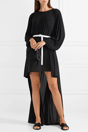 Norma Kamali Belted asymmetric jersey dress