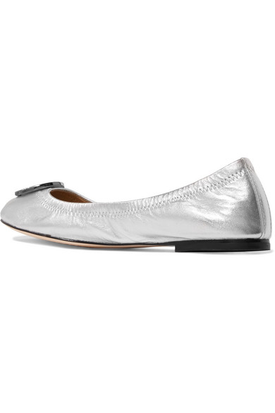 861b0c67c Tory Burch. Liana embellished metallic leather ballet flats. $140. Zoom In