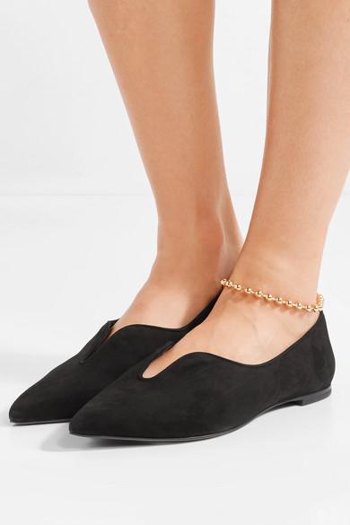 Preise Und Verfügbarkeit Günstiger Preis Verkauf Neueste Tory Burch Lucia Oxford flache Schuhe aus Veloursleder mit spitzer Kappe EjldqUsqTQ