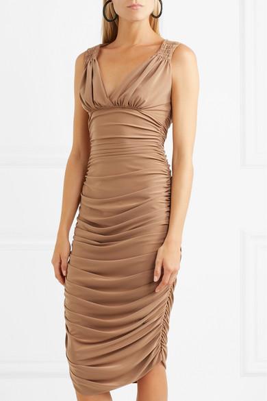 Norma Kamali Tara Kleid aus Stretch-Jersey mit Raffungen