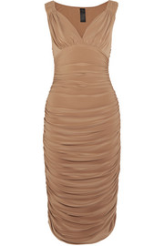 Tara ruched stretch-jersey dress