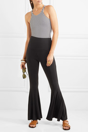 Norma Kamali Stretch-jersey flared pants