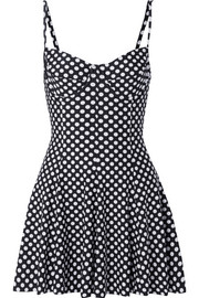 Norma Kamali Polka-dot swim dress