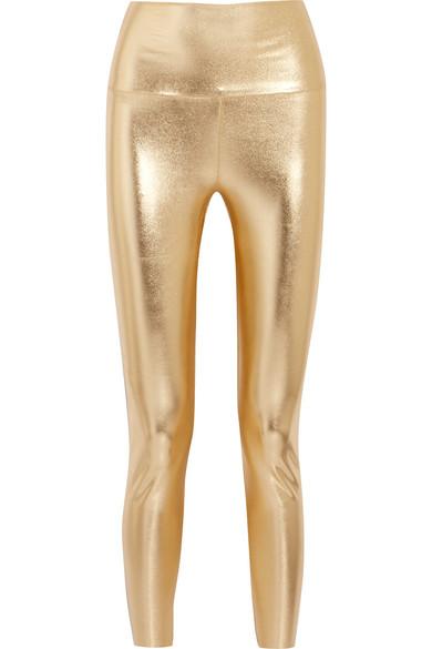 Norma Kamali Leggings aus Stretch-Jersey in Metallic-Optik