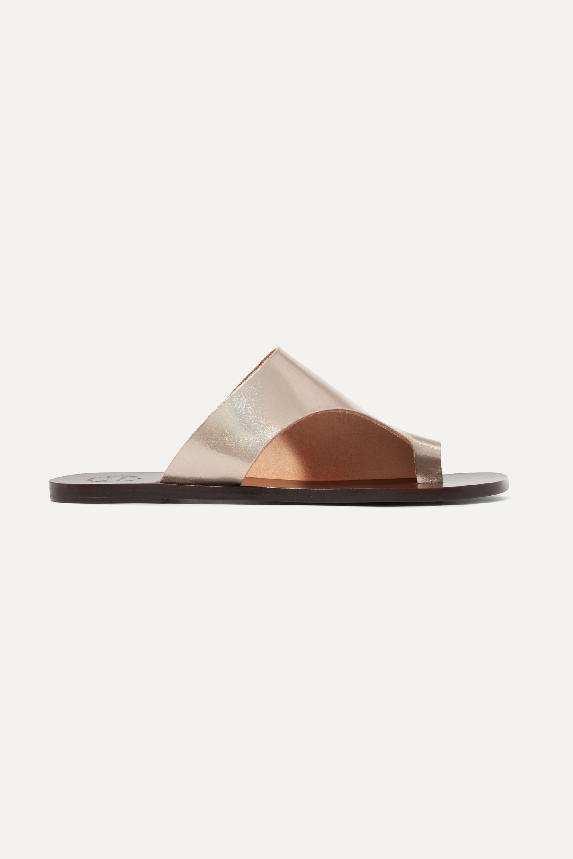 ATP Atelier Rosa cutout metallic leather slides