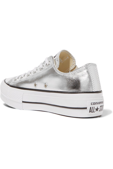 Converse Chuck Taylor All Star Lift Plateau-Sneakers aus strukturiertem Metallic-Leder Steckdose Shop Angebote mN9r5
