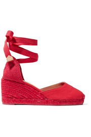 Carina Espadrille-Wedges aus Canvas