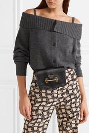 Cahier textured-leather belt bag