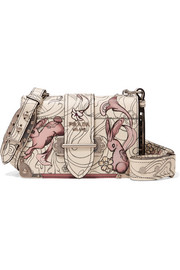 Cahier printed leather shoulder bag