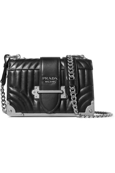 09f0ac056c819f Prada | Cahier quilted leather shoulder bag | NET-A-PORTER.COM