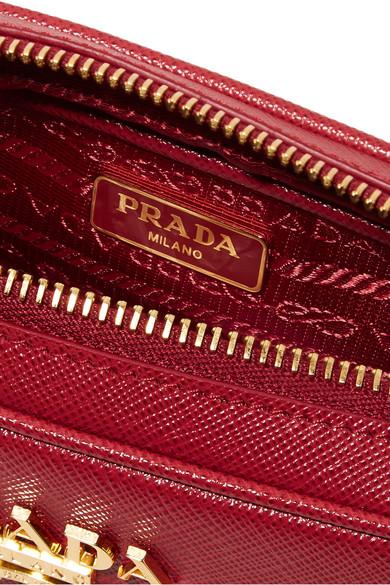 Prada   Textured-leather shoulder bag   NET-A-PORTER.COM a100438945
