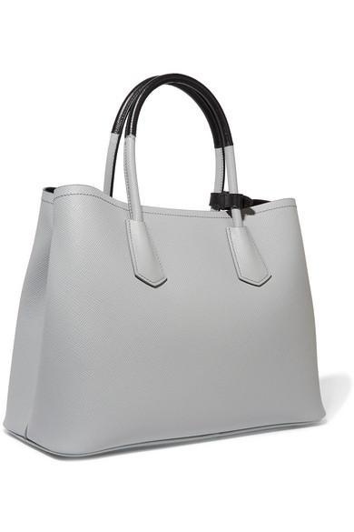 5e738434 Prada | Double textured-leather tote | NET-A-PORTER.COM