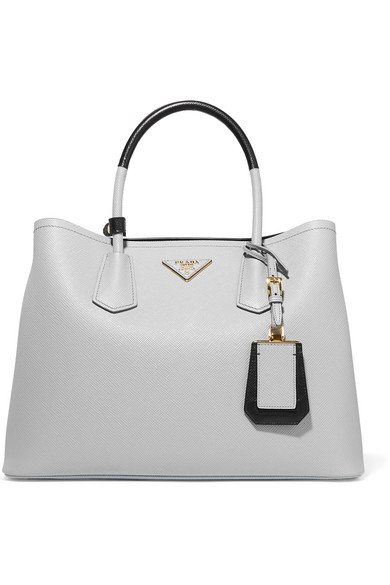 Prada. Double textured-leather tote 4f512719aecc8