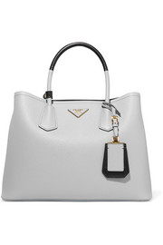 Prada Double textured-leather tote