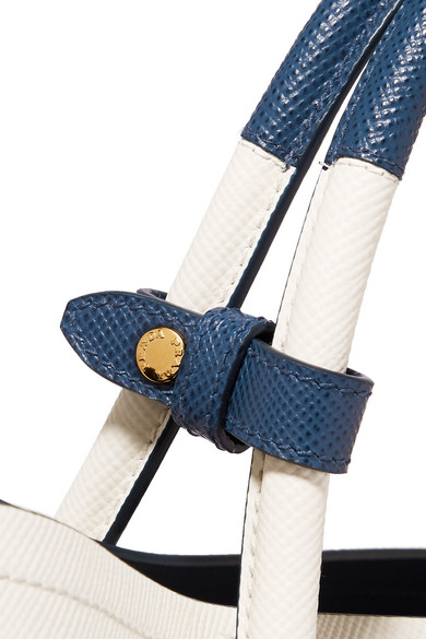Hochwertige Billig Besuchen Neue Prada Double Tote aus strukturiertem Leder Billig Verkauf Der Neue Ankunft Strapazierfähiges Perfekte Online zY5tql7nLn
