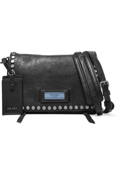 4dd01bcfc6 Sac porté épaule en cuir texturé à clous Etiquette Small