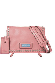 Etiquette small studded leather shoulder bag