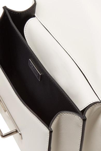 Prada Cahier verzierte Schultertasche aus Leder