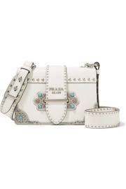 Cahier embellished leather shoulder bag