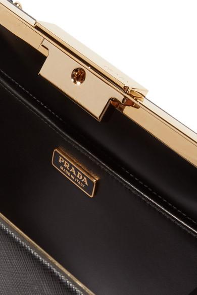 Prada Frame Schultertasche aus strukturiertem Leder