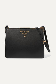 Frame textured-leather shoulder bag