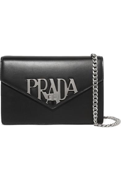 e6a53cdadfe7 Prada | Logo Liberty leather shoulder bag | NET-A-PORTER.COM